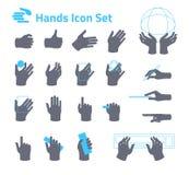 Handsymbolsuppsättning för website eller applikation Plan design vektor illustrationer