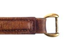 Handtag av ett isolerat läder Arkivbild