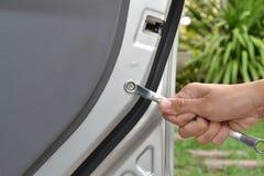 Handtagskiftnyckel. Fotografering för Bildbyråer