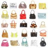 Handtasche der Damen auf einem weißen Hintergrund Lizenzfreies Stockbild