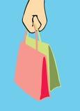 Handtasche im Frauenarm vektor abbildung
