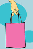 Handtasche im Frauenarm lizenzfreie abbildung