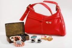 Handtasche u. Schmucksachen Lizenzfreies Stockfoto