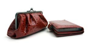 Handtasche und Mappe Stockfoto