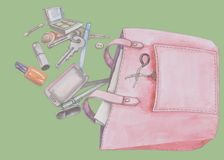 Handtaschen der Frauen stockbild