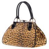 Handtaschen-Schultaschen-Mode im Leoparden Stockfotografie