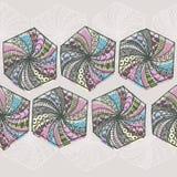 Handteckningsmodell med polygoner vektor illustrationer