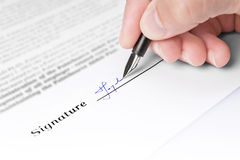 Handtekening Royalty-vrije Stock Foto's