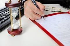 Handtekening Royalty-vrije Stock Fotografie