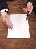Handtekening Stock Fotografie
