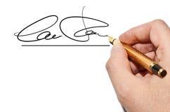 Handtekening Royalty-vrije Stock Afbeelding