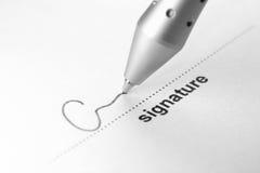 Handtekening stock foto's