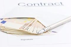 Handtekening Stock Afbeelding