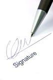 Handtekening en pen 2 Royalty-vrije Stock Foto