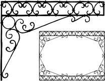 Handtekening van een decoratief architecturaal detail royalty-vrije illustratie