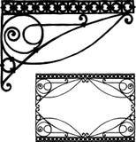 Handtekening van een uitstekend architecturaal detail royalty-vrije illustratie
