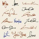 Handtekeningen Royalty-vrije Stock Afbeeldingen