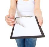 Handtekeningscampagne Stock Foto's