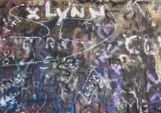 Handtekeningsmuur Abstracte creatieve tekeningsmanier Royalty-vrije Stock Foto