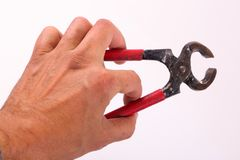 Handtool владением руки стоковые фото