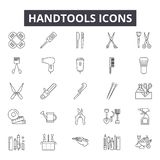 Handtools line icons for web and mobile design. Editable stroke signs. Handtools  outline concept illustrations. Handtools line icons for web and mobile royalty free illustration