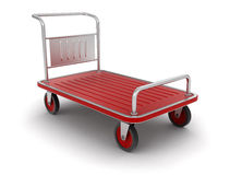 Handtruck (clipping path included). Handtruck. Image with clipping path Stock Image
