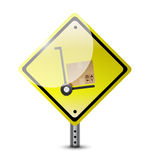 Handtruck dolly sign illustration. Design over a white background Royalty Free Stock Photography