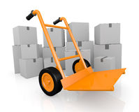 Handtruck or trolley Royalty Free Stock Photo
