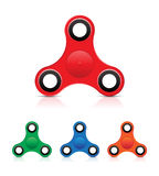 Handunruhe-Spinner-Druck-Spielzeug - bunte Vektor-Illustration Lizenzfreie Stockfotografie
