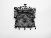 Handväska för fullödig silver för tappning inristad fransk Royaltyfria Bilder