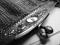 Handväska för fullödig silver för tappning inristad fransk Royaltyfria Foton