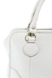 Handväska för vitt läder för förtittdamer trendig Royaltyfria Bilder