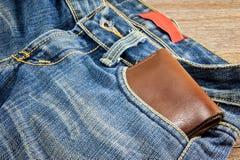 Handväska i jeans Arkivbild