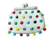 Handväska med pärlor Royaltyfri Bild