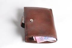 Handväska med pengar Royaltyfri Foto