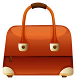 Handväska med vinandet och handtaget royaltyfri illustrationer