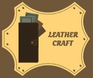 Handväskahandelsresande med pengar och kreditkortar arkivbilder