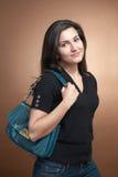 handväskakvinna Royaltyfri Foto