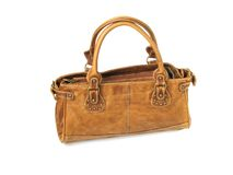 handväskakvinna Royaltyfri Bild