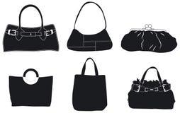 handväskaläder royaltyfria bilder