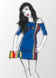 handväskasportkvinna Royaltyfria Bilder