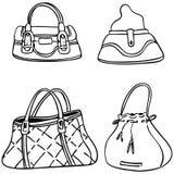 handväskor stock illustrationer