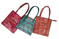 handväskor för 1 läder Royaltyfri Bild