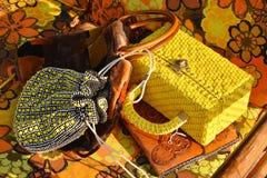 Handväskor som är till salu i Detroit Royaltyfria Bilder