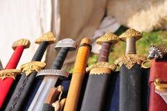 Handvatten van zwaarden Royalty-vrije Stock Foto