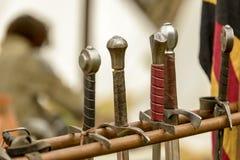 Handvatten van zwaarden royalty-vrije stock foto's