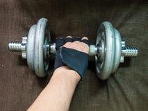 Handvikter eller hantlar, worko för övning för lyfta för vikt sund Royaltyfria Bilder