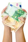 Handvol Bankbiljetten Royalty-vrije Stock Fotografie