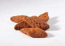 Handvol croutons Stock Fotografie