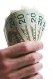 Handvol dollars - 2 Stock Fotografie
